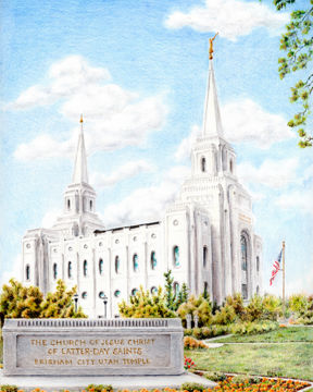 brigham city temple with humbled heart by pris hardy