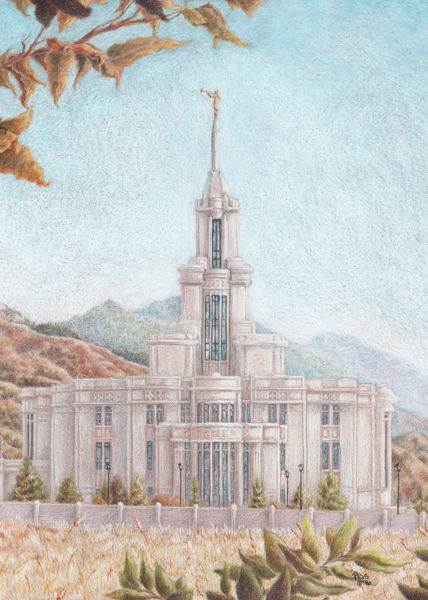 Picture of Payson Temple Harvest Approaches