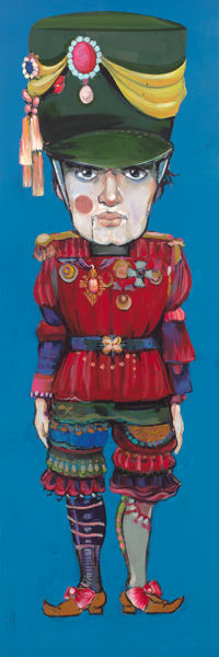 Picture of The Nutcracker Original Oil on Panel 9 X 30