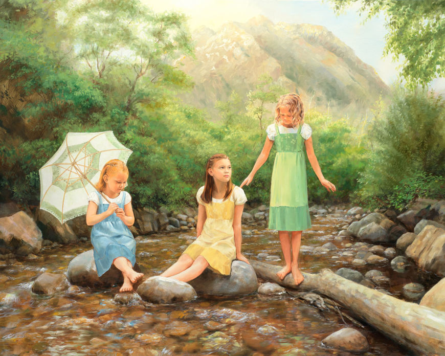 three maids a wading by jay bryant ward