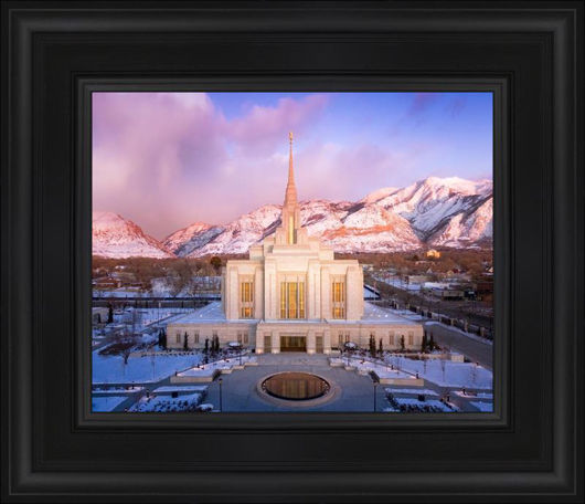 Picture of Ogden Winter Sunset Aerial