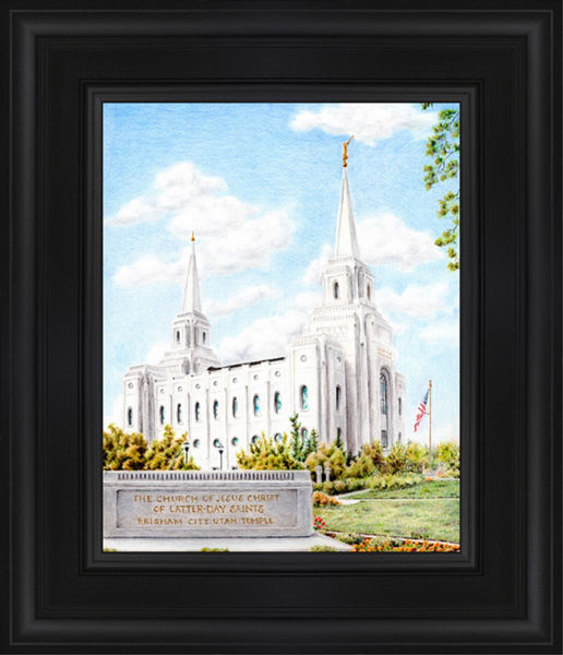 Brigham City Temple With Humbled Heart