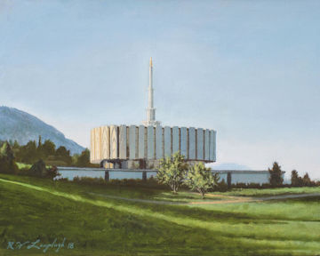 Provo Temple the Morning Breaks
