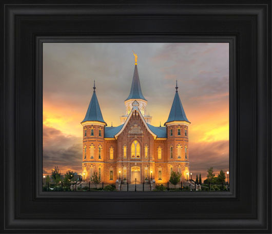 Provo City Center Temple Burning Sky