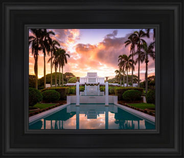 Laie Fountain Sunset