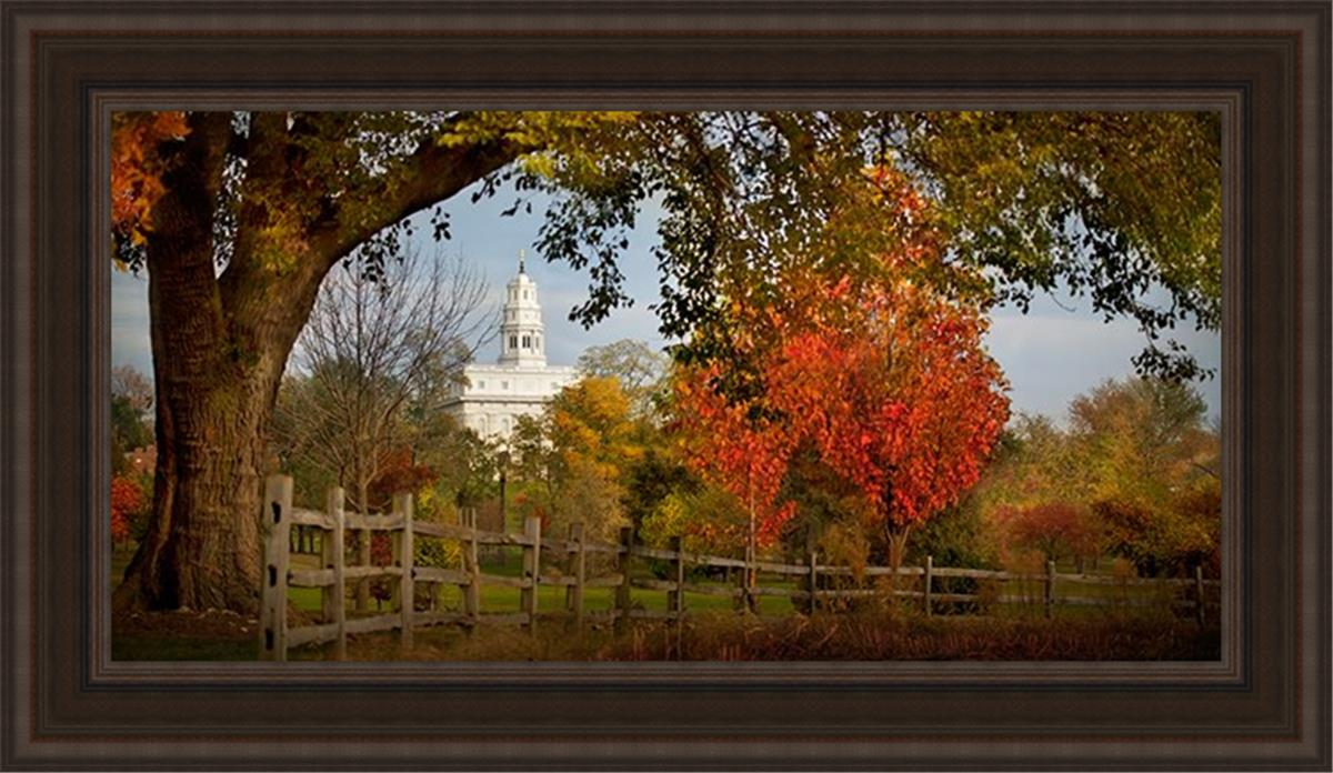 Nauvoo Farm With Red Leaves