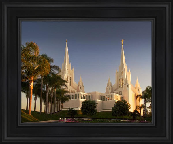 San Diego Temple Sunset
