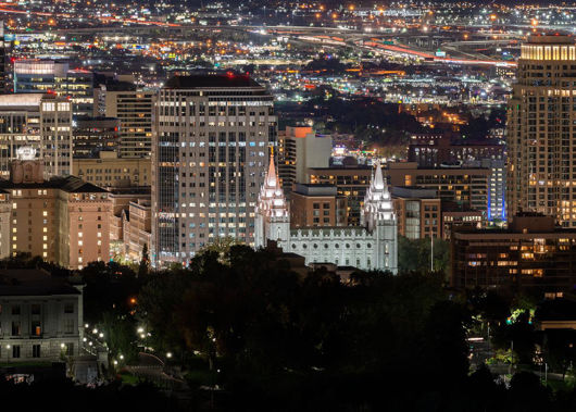 salt lake temple city view by aj buruca