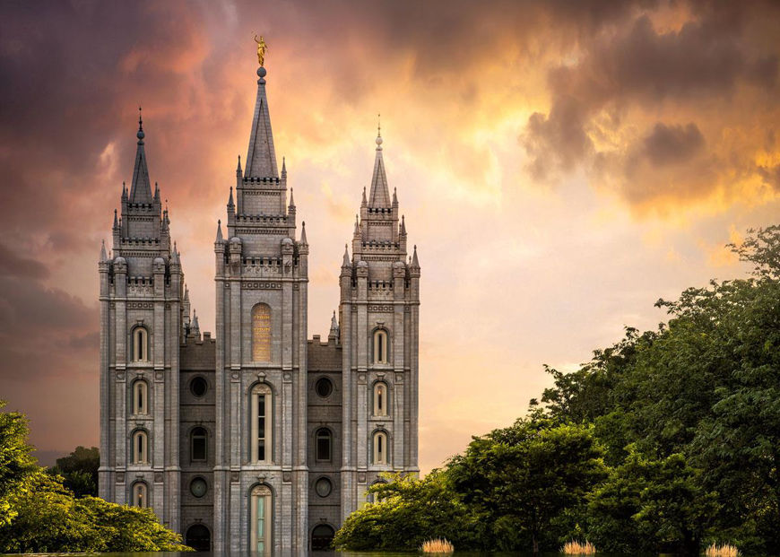 salt lake temple through the clouds by greg sargent