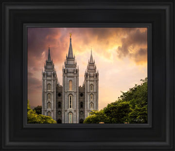 Salt Lake Temple Through the Clouds