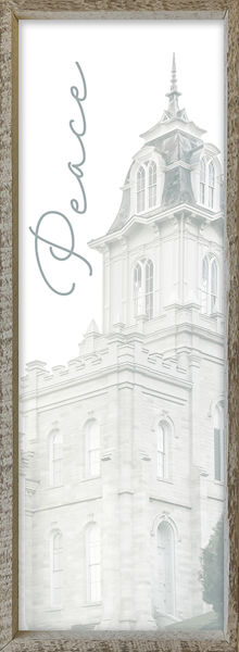 Manti Temple Spire by Alan Fullmer 8 X 24
