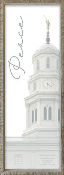 Nauvoo Temple Spire by Alan Fullmer 8 X 24