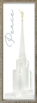 Oquirrh Mountain Temple Spire by Alan Fullmer 8 X 24