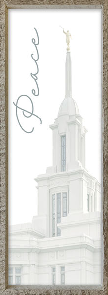 Payson Temple Spire by Alan Fullmer 8 X 24