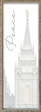 Salt Lake City Temple Spire by Alan Fullmer 8 X 24