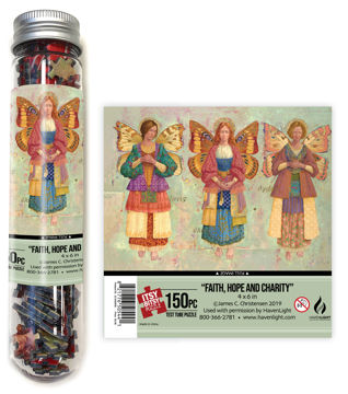 Faith, Hope & Charity Test Tube Itsy Bitsy Puzzle