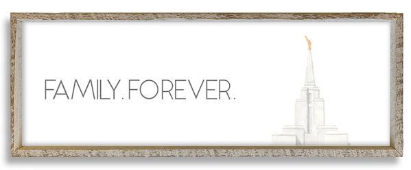Oquirrh Mountain Temple Top Family Forever 36 X 12
