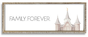 Provo City Center Temple Top Family Forever 36 X 12