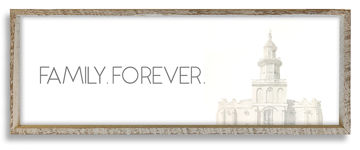 St. George Temple Top Family Forever 36 X 12