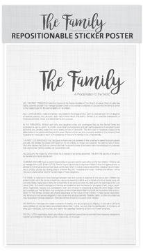 Family Proclamation Postable