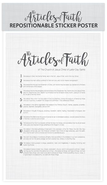 Articles of Faith Postable