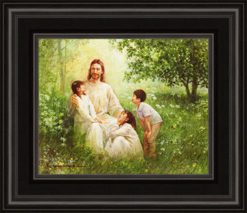 Christ with Asian Children
